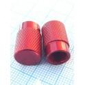Колпачок алюминевый на ниппель красный