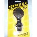 Зеркало Spelli SBM-4066 Black, круглое, крепление на хомуте