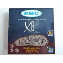 Цепь KMC X8.99 c замком для 7-8 звезд