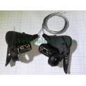 Манетки 3х8 MicroShift TS38-8 обе фиксированные с тросами